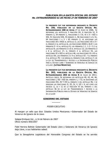 Ley De Transparencia Y Acceso A La Información Pública Para El ...