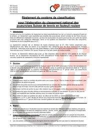Règlement du système de classification pour l'élaboration du ...