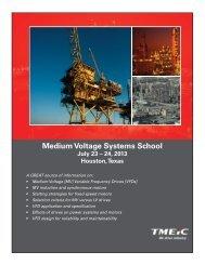 Medium Voltage Systems School July 23 - Tmeic.com