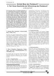 Schrieb Mose den Pentateuch? 2. Teil - Wort und Wissen