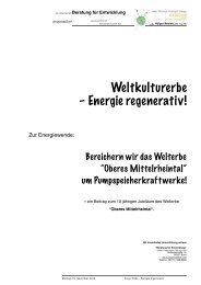 Unser Erbe – Energie regenerativ - physicstoDot