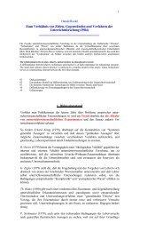 Zum Verhältnis von Zielen, Gegenständen und Verfahren der ...