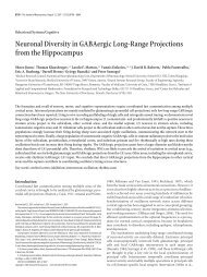 Neuronal Diversity in GABAergic Long-Range Projections from the ...