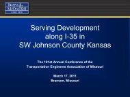 Serving Development along I-35 in SW Johnson County Kansas
