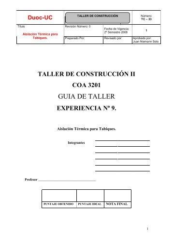 GUIA DE TALLER - Biblioteca - Duoc UC