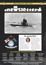 January 13 - Barrow Submariners Association
