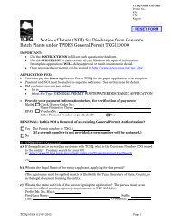 Notice of Intent - TCEQ e-Services - Texas.gov