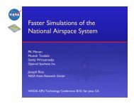 Faster Simulations of the National Airspace System