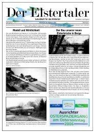 Der Bau unserer neuen Elsterbrücke in Berga Modell und Wirklichkeit