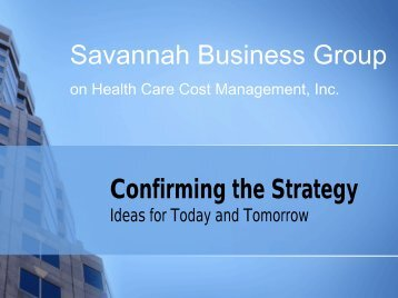 SBG's strategic plan - Savannah Business Group