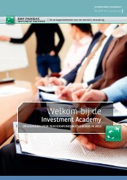 programma voor 2013 - BNP Paribas Investment Partners