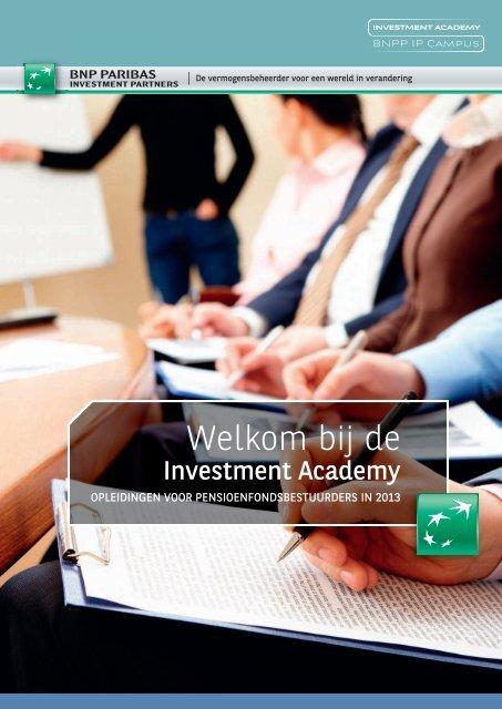 programma voor 2013 - BNP Paribas Investment Partners