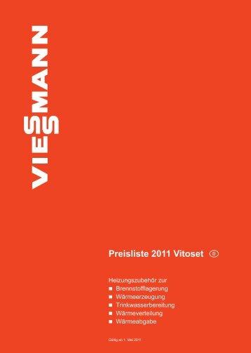 Preisliste 2011 Vitoset, gültig ab 1. Mai 2011