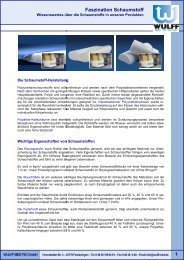 Fas Faszination Schaumstoff n Schaumstoff - Wulff Med Tec GmbH