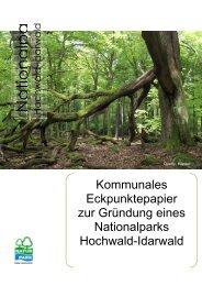 Grundlegende Ziele - Ein Nationalpark in Rheinland-Pfalz