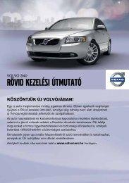 Rövid Kezelési útmutató letöltése - Volvo