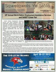 Issue 2 - April 2012 - Sto:lo Nation