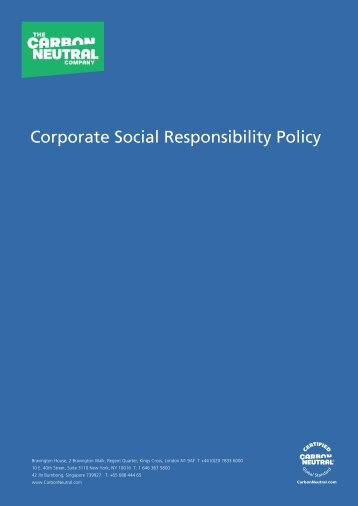 Corporate Responsibility_2010.pdf - The Carbon Neutral Company