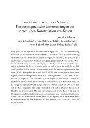 Krisensemantiken in der Schweiz: Korpuspragmatische ... - 獨協大学