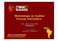 """""""Metodología de Análisis Forense Informático"""" - Cybsec"""