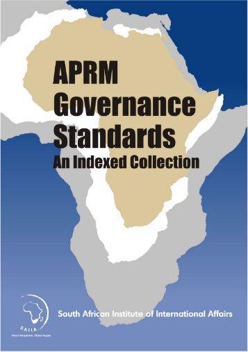 SAIIA APRM Standards Book 2008 version 2.pdf - the ...