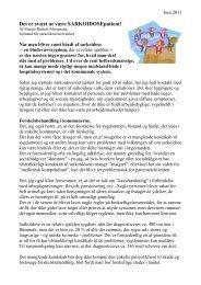 Det er svært at være sarkoidosepatient - Danmarks Lungeforening