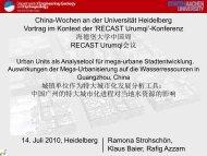 城镇单位作为特大城市化发展分析工具 - RECAST Urumqi ...