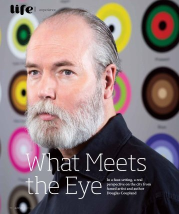 Douglas Coupland and I are hanging out in the living room of a ...