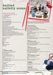 knitted nativity scene - Spotlight Promotions