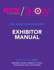 EXHIBITOR MANUAL - Anme.com