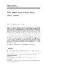 Stability and Model Selection in k-means Clustering - Faculty of ...