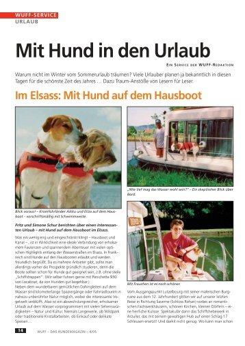 Mit Hund in den Urlaub - WUFF - online