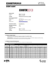 EXHIBITOR2013 Attendee Audit - Exhibitor Magazine