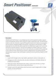 Smart Positioner FC 900 series - Flucon Automation Inc.