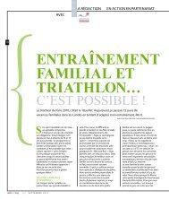 ENTRAîNEMENT FAMILIAL ET TRIATHLON…