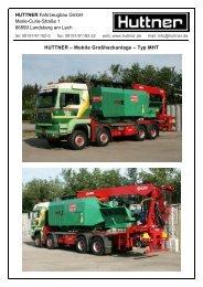 Mobile Großhackanlage – Typ MHT - Huttner Fahrzeugbau GmbH