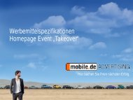 """Event """"Takeover"""" - mobile.de Advertising"""
