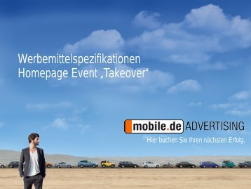"Event ""Takeover"" - mobile.de Advertising"