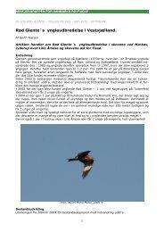 kort artikel af Gerth Nielsen - Danmarks Rovfugle