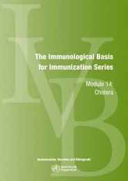 The Immunological Basis for Immunization Series - libdoc.who.int