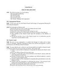 Circuit Organisation - The Methodist Church in Ireland