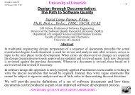 University of Limerick Design through Documentation: The Path to ...