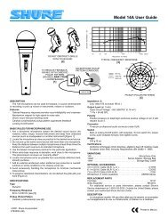 Shure 16A Microphone User Guide