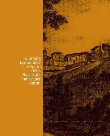 Giornale Economico Letterario della Basilicata Indice per autori
