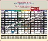 Vorlage Kalendarium 2013