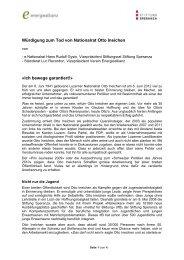 Würdigung - zum Tod von Otto Ineichen vom ... - Stiftung Speranza