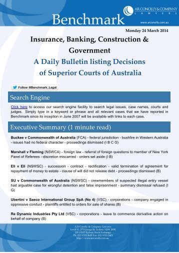 benchmark_24-03-2014_insurance_banking_construction_government
