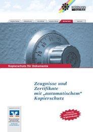 """Zeugnisse und Zertifikate mit """"automatischem"""" Kopierschutz"""