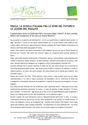 educa: la scuola italiana fra le sfide del futuro e le lezioni del passato