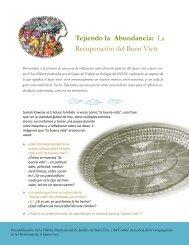 Tejiendo la Abundancia: La Recuperación del Buen Vivir